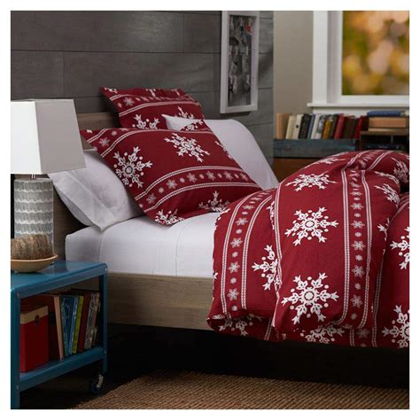 queen flannel duvet cover duvet cover 100 cotton snowflakes soft flannel size bedding ebay