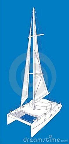 Catamaran Technical Drawing by Fountaine Pajot Mahe 36 Technical Drawing Showing Standard