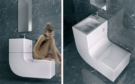 Caroma Toilet With Sink On Top by Sleek Sink Toilet Combo Is An All In One Greywater
