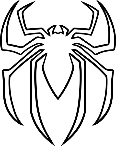 For Kids Batman Coloring Pages Of Spiderman Symbol Color