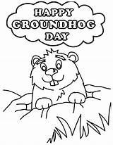 Groundhog Coloring Printable Pages Happy Ground Sheet Hog Sheets Printables Template Activities Niagara Getdrawings Falls Drawing Getcolorings Dari Disimpan sketch template