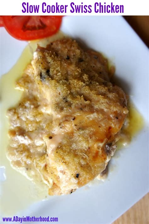 crockpot chicken and with swiss cheese slow cooker swiss chicken
