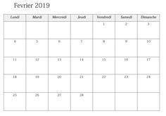 calendrier fevrier   imprimer images