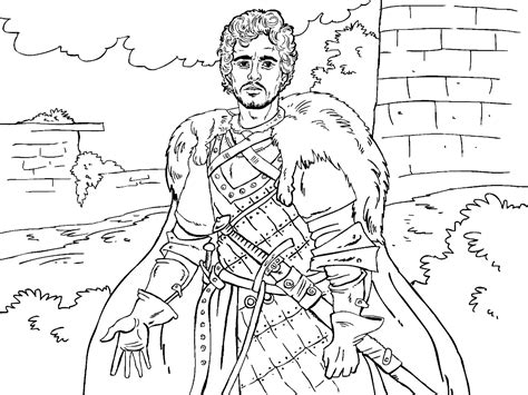 of thrones coloring pages of thrones colouring in page robb colouring