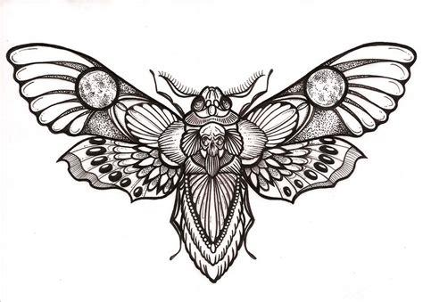 awesome deaths head hawk moth tattoo design occult