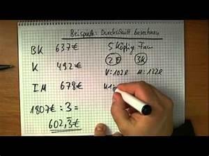Durchschnitt Berechnen Punkte : den durchschnitt berechnen beispielaufgaben youtube ~ Themetempest.com Abrechnung
