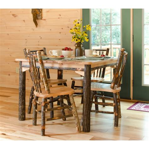 dining room sets rustic hickory and oak