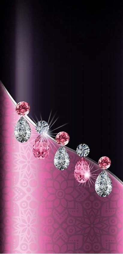 Backgrounds Pink Diamond Bling Elegant Wallpapers Fancy