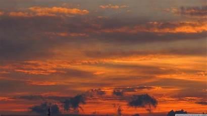 Sky Orange Wallpapers Aesthetic Backgrounds Desktop 4k