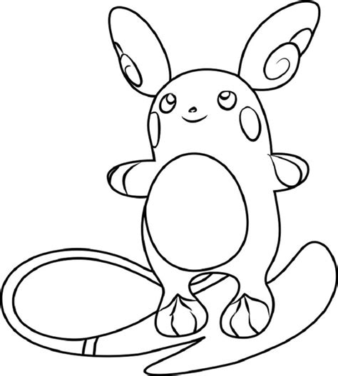 Kleurplaat Raichu by Coloring Pages Raichu Coloring Pages For In