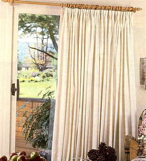fireside pinch pleated curtain patio