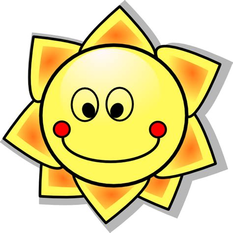 smiling cartoon sun clip art  clkercom vector clip