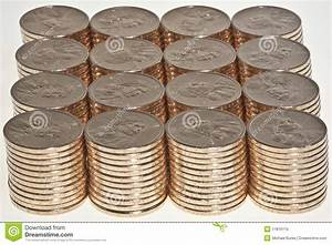 Stacks Of US Dollar Gold Coins Stock Image - Image: 11816115