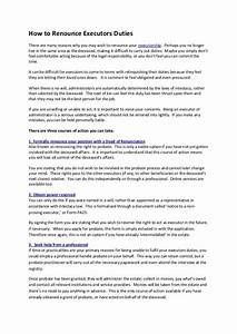 Sample Of Power Of Attorney How To Renounce Executors Duties By Iwc Probate Services