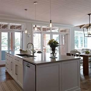 grand ilot de cuisine contemporaine avec lave vaisselle et With grand ilot de cuisine