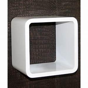 Etagere Cube Blanc : tag re cube murale blanc achat vente meuble tag re tag re cube murale blanc les soldes ~ Teatrodelosmanantiales.com Idées de Décoration