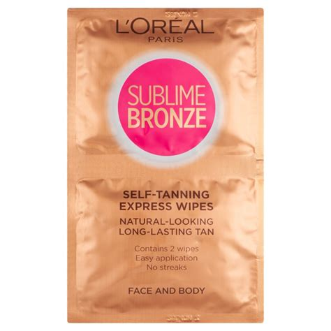 face tanning l l 39 oreal paris sublime bronze self tanning face and body