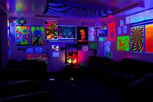 Cypress 7 I Miss it my blacklight dorm living room