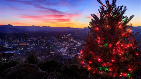 8 places to see lights in asheville n c