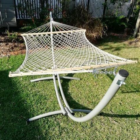 Hammock And Hammock Stand by Xl Free Standing Hammock White Rope Hammock And Arc Stand