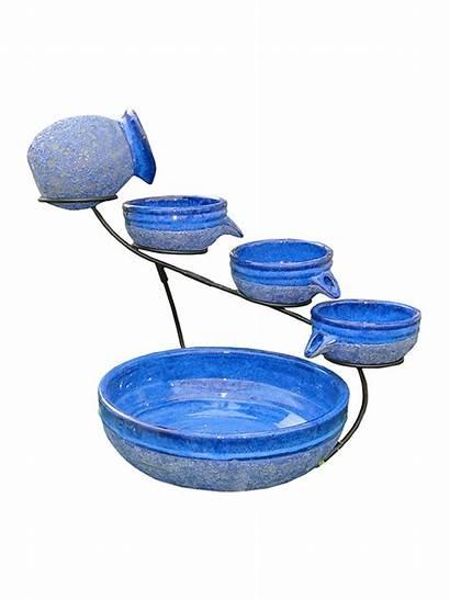 Solar Garden Ceramic Fountain Fountains Water Cascading