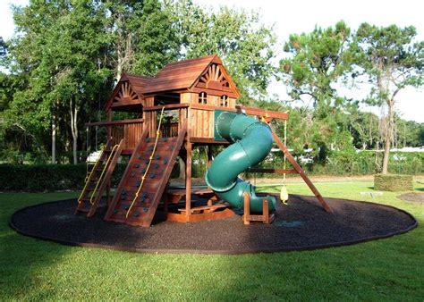 playground sets for backyards playground ideas for backyard backyard rubber mulch