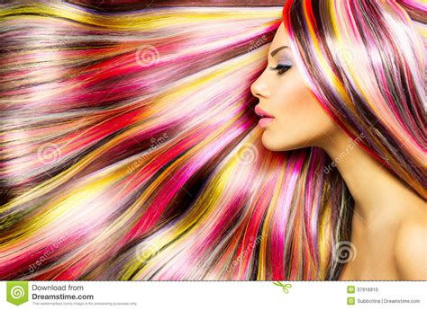 Girl With Colorful Dyed Hair Stock Photo Image 37916910