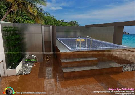 house  terrace swimming pool kerala home design  floor plans  houses