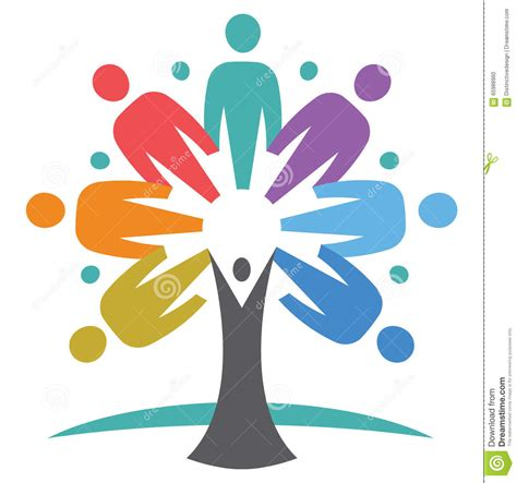 caring tree caring your family united tree vector illustration cartoondealer