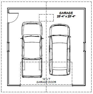 dimensions of a 2 car garage 24x24 2 car garage 24x24g1e 576 sq ft excellent