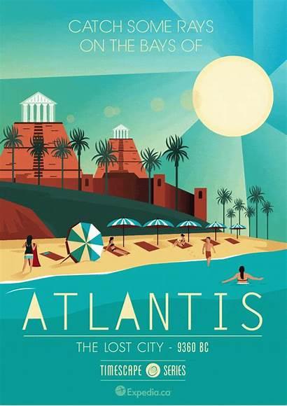 Poster Posters Travel Vacation Traveler Atlantis Travelers
