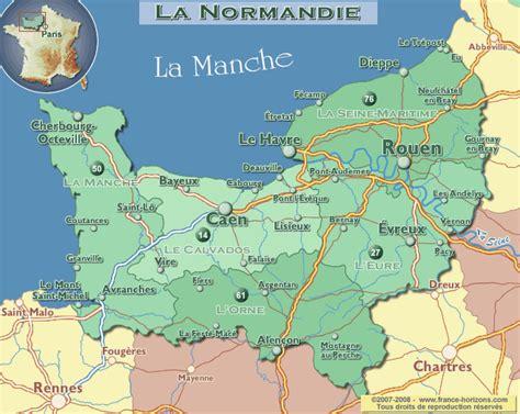 Carte De Normandie Detaillee by Normandie Carte Voyages Cartes