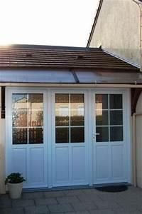 porte dentree en pvc avec trois panneaux dont deux fixes With entreprise porte de garage