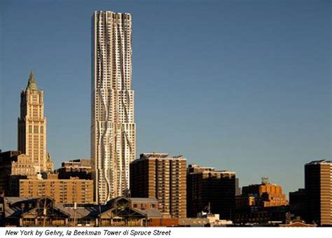in with frank gehry mentre new york scopre la torre