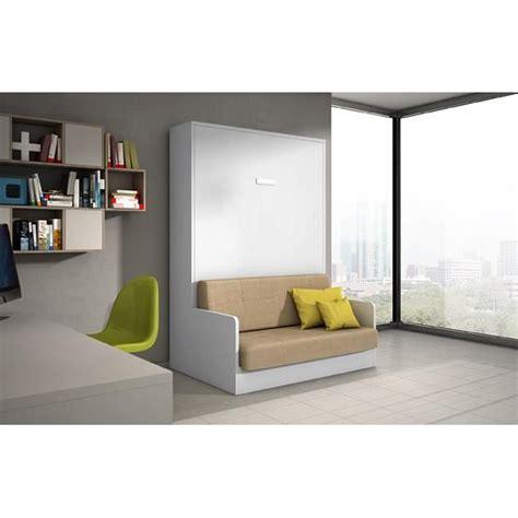 lit escamotable canapé pas cher armoire lit 140x200 chêne blanc avec canapé achat