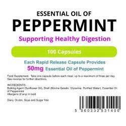 Peppermint Oil 50mg Capsules