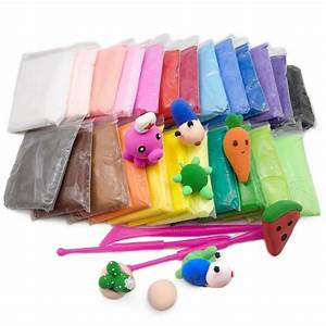 36  24  12pc Polymer Clay Slime Fluffy Light Soft Plasticine