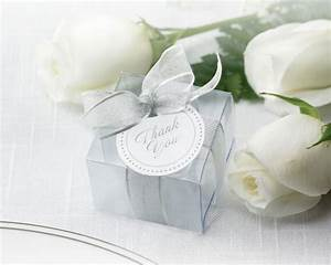 Clear silver favor boxes set of 50 for Clear wedding favor boxes