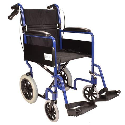 lightweight folding wheelchair with handbrakes ectr01