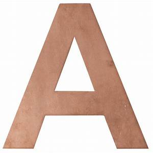 numbers letters copper wall mount robert plumb store With copper letters for wall