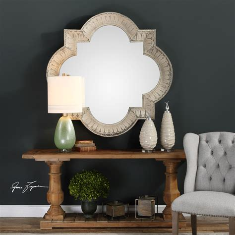 Uttermost Mirror Sale by Giada Large Aged Ivory Mirror Uttermost Wall Mirror
