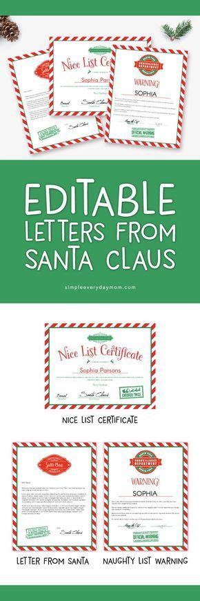 unique letter  santa template ideas  pinterest