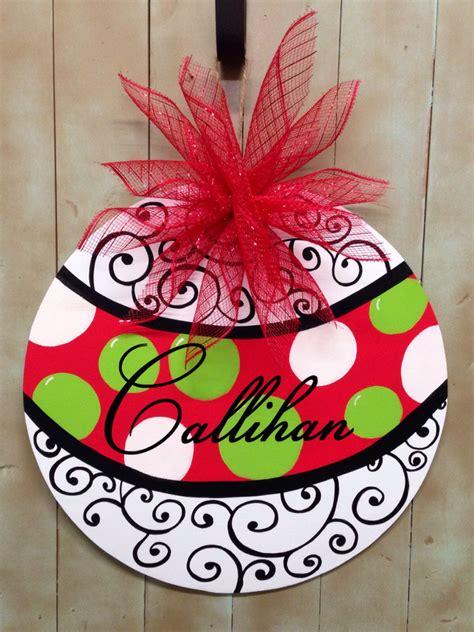christmas ornament door hanger christmas door hanger polka