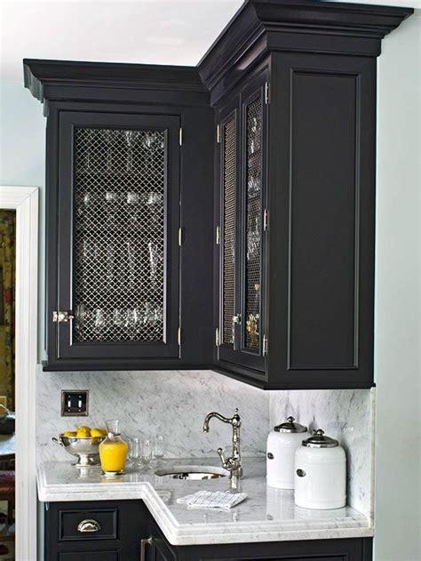 serving  style kitchen cabinets glass inserts kitchen