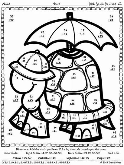 Addition Digit Regrouping Math Worksheets Code Puzzles