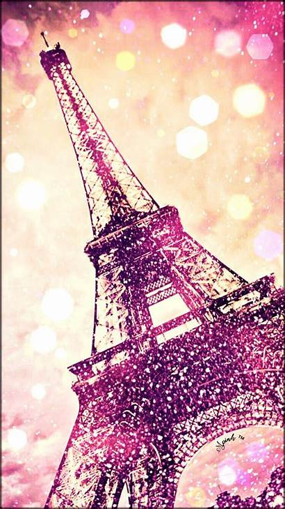 Eiffel Paris Tower Glitter Painting Backgrounds Wallpapers