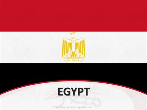 egypt flag template   powerpoint templates