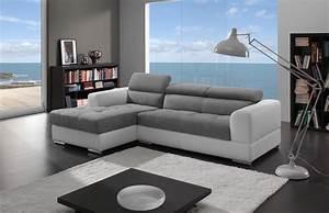 salon canape d39angle With tapis moderne avec canapé d angle en microfibre