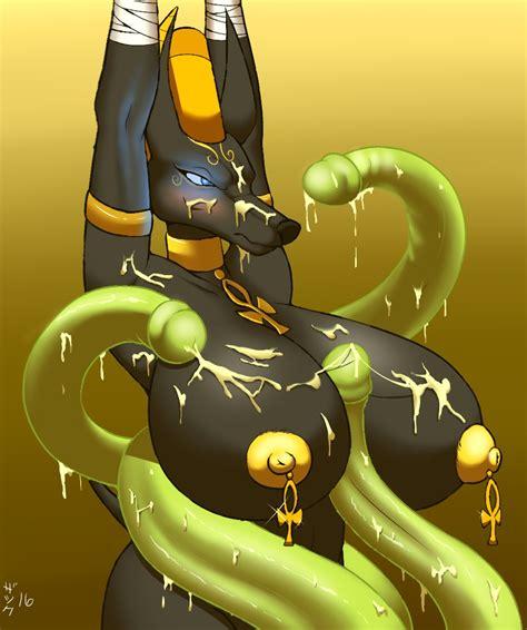 Rule 34 2016 Anthro Anubis Big Breasts Big Nipples Black