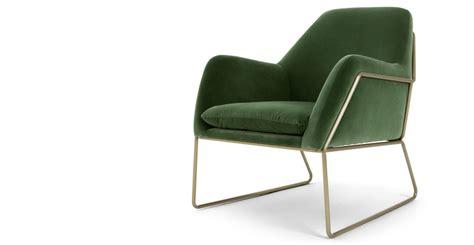 but fr canapé frame fauteuil velours vert gazon made com